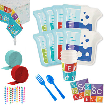 Science Party Deluxe Tableware Kit (Serves 8)