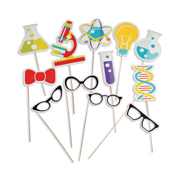 Science Party Photo Stick Props (12)