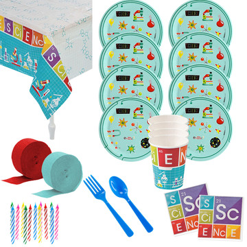 Science Robot Party Deluxe Tableware Kit (Serves 8)