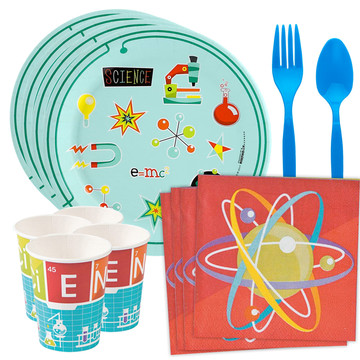 Science Robot Party Standard Tableware Kit (Serves 8)