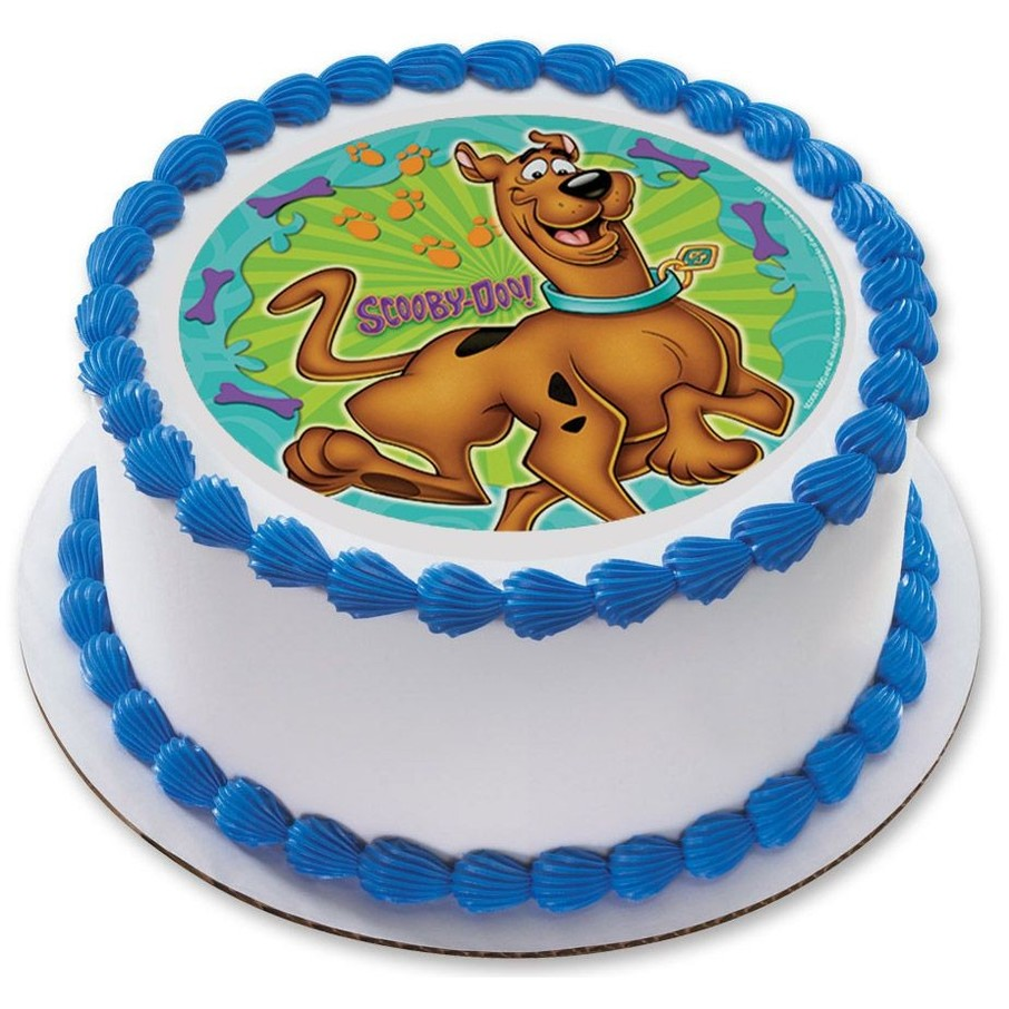 """View larger image of Scooby Doo 7.5"""" Round Edible Cake Topper (Each)"""
