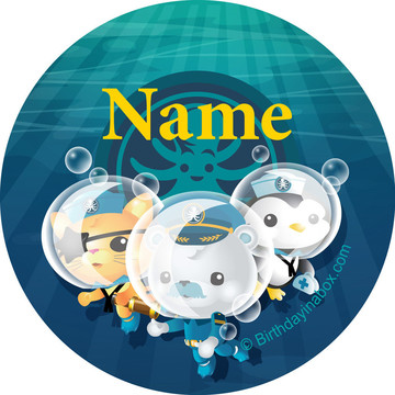 Sea Explorer Personalized Mini Stickers (Sheet of 24)