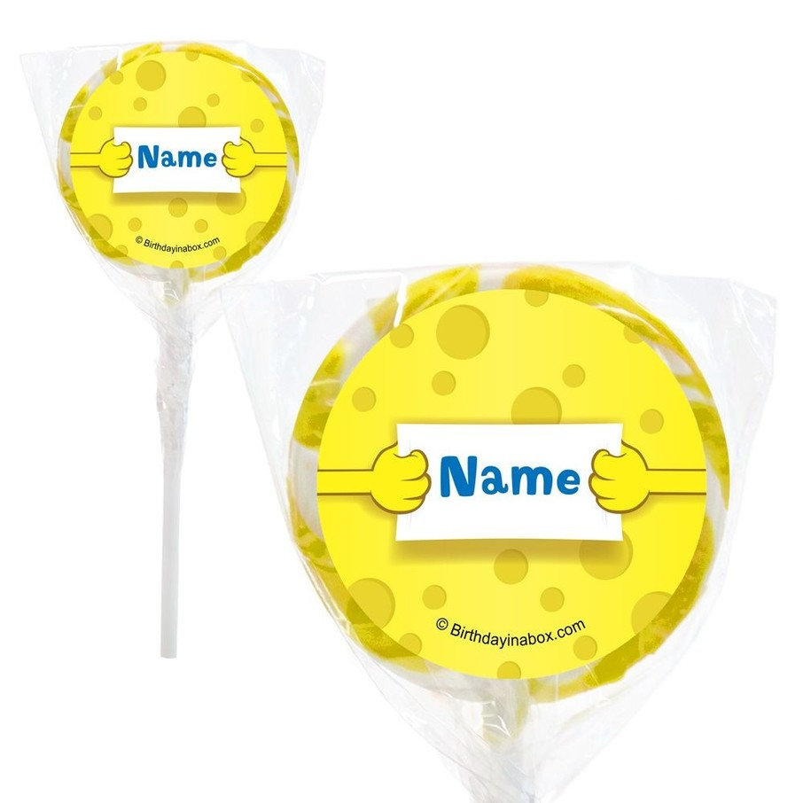 """View larger image of Sea Sponge Personalized 2"""" Lollipops (20 Pack)"""