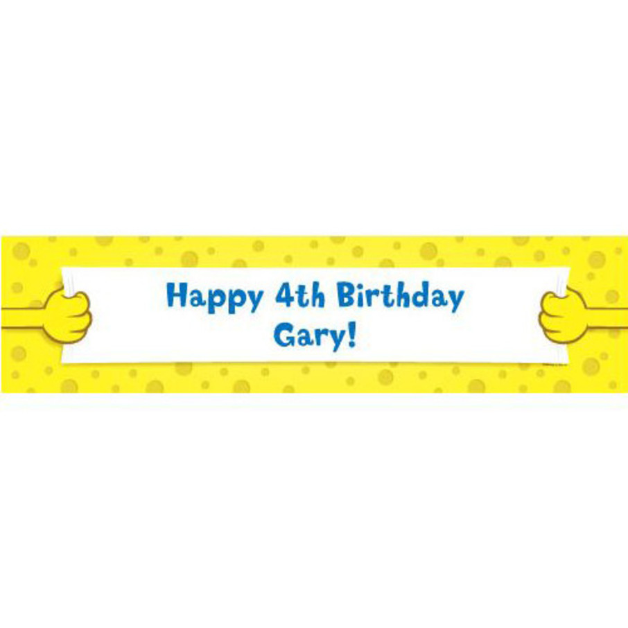 View larger image of Sea Sponge Personalized Banner (each)