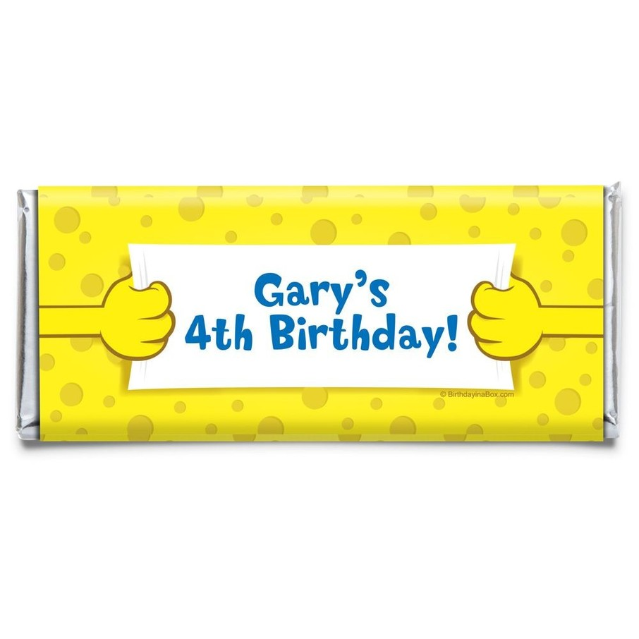 View larger image of Sea Sponge Personalized Candy Bar Wrapper (Each)