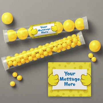Sea Sponge Personalized Candy Tubes (12 Count)