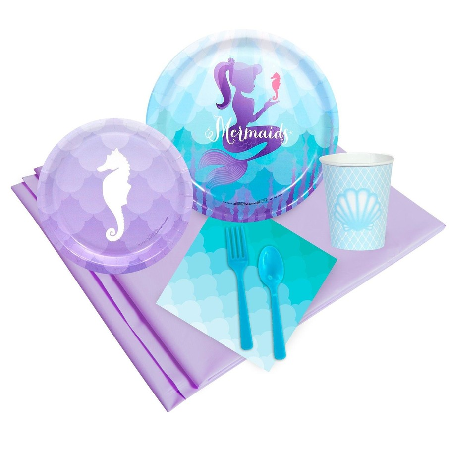 View larger image of Mermaids Under The Sea 24 Guest Party Pack