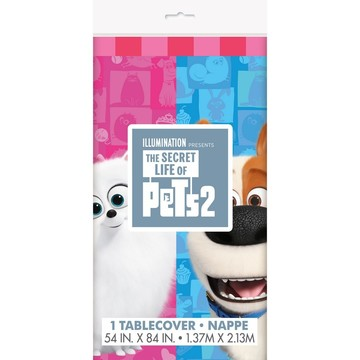 "Secret Life of Pets 2 Plastic Tablecover 54"" x 84"""
