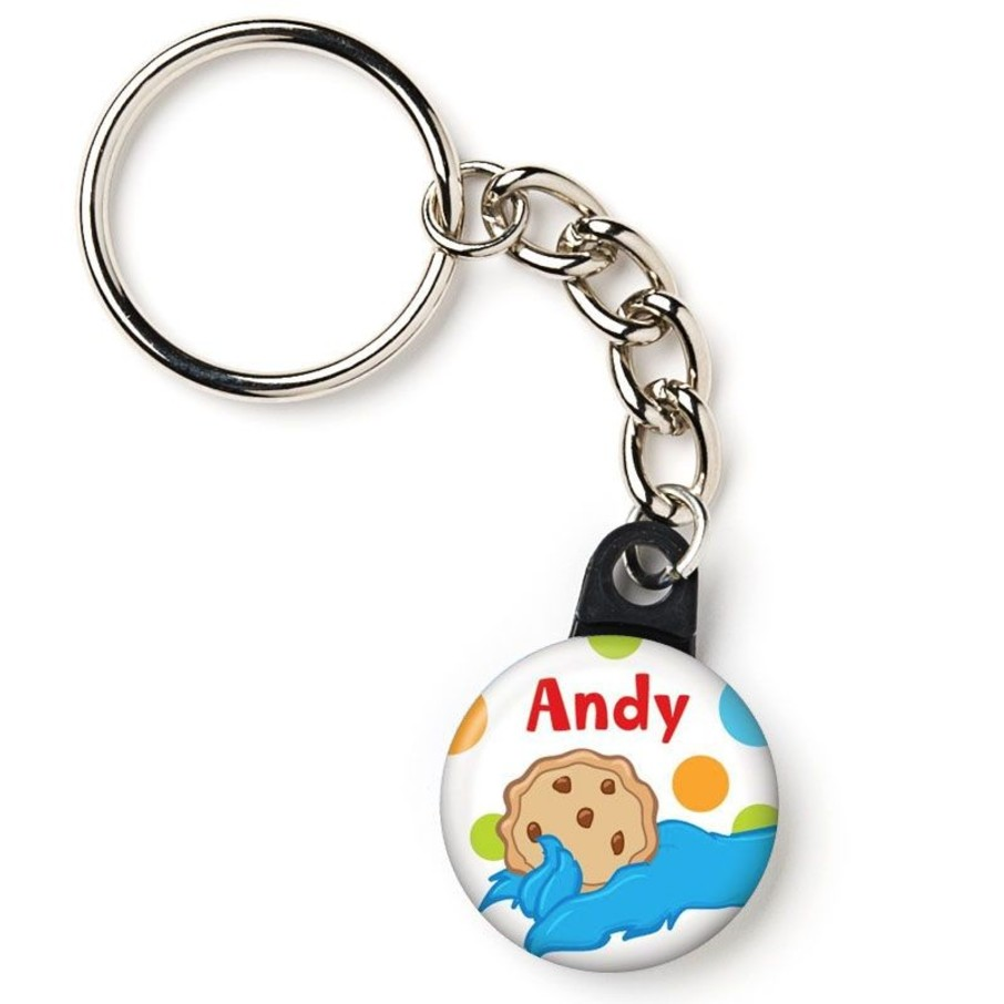 """View larger image of Sesame Friends Personalized 1"""" Mini Key Chain (Each)"""