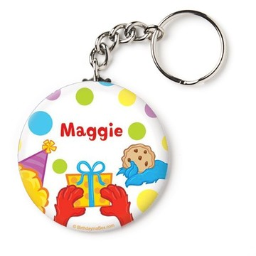 "Sesame Friends Personalized 2.25"" Key Chain (Each)"
