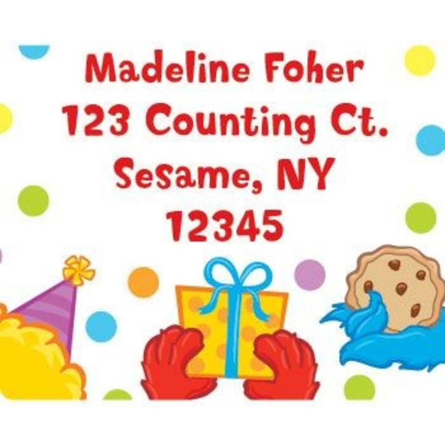 View larger image of Sesame Friends Personalized Address Labels (sheet of 15)