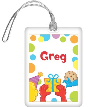 Sesame Friends Personalized Bag Tag (each)