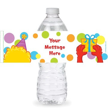 Sesame Friends Personalized Bottle Labels (Sheet of 4)
