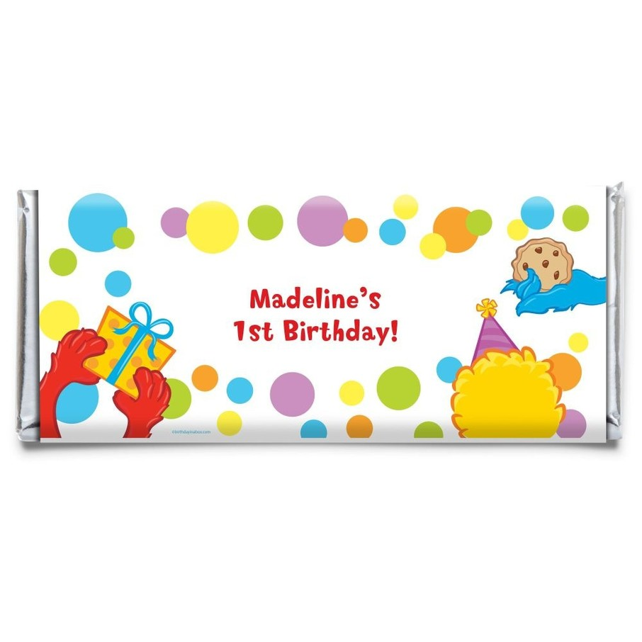 View larger image of Sesame Friends Personalized Candy Bar Wrapper (Each)