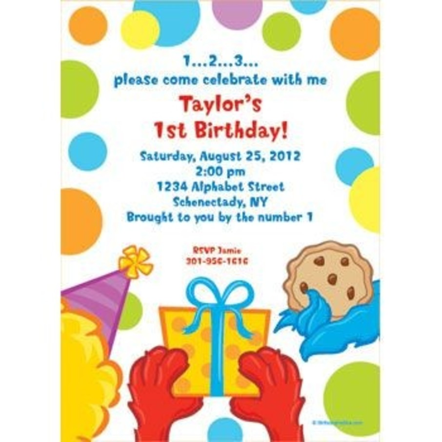 View larger image of Sesame Friends Personalized Invitation (each)