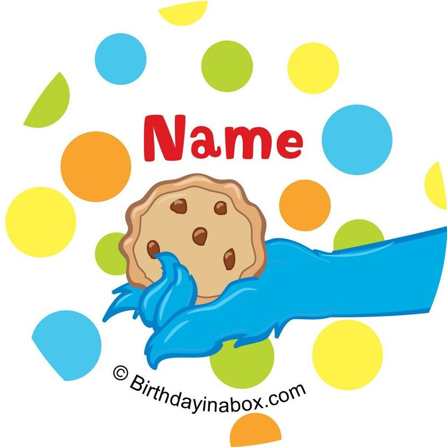 View larger image of Sesame Friends Personalized Mini Stickers (Sheet of 24)