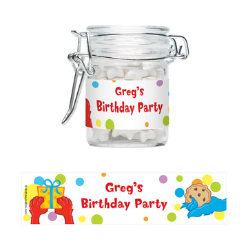 Sesame Friends Personalized Swing Top Apothecary Jars (12 ct)