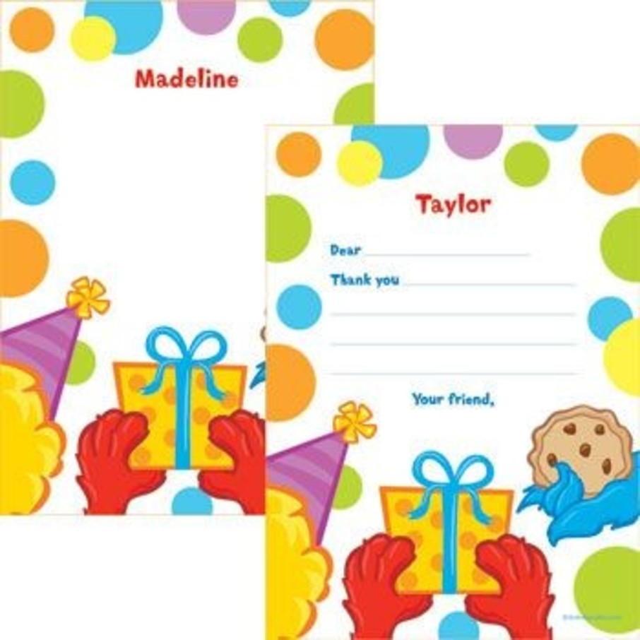 View larger image of Sesame Friends Personalized Thank You Note (each)