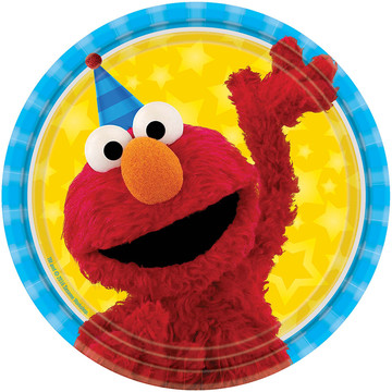 "Sesame Street 7"" Cake Plates (8 Count)"