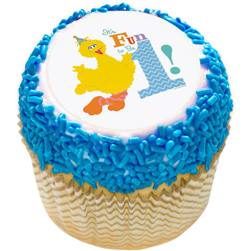 "Sesame Street Fun to be One 2"" Edible Cupcake Topper (12 Images)"