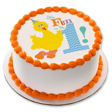 "Sesame Street Fun to be One 7.5"" Round Edible Cake Topper (Each)"