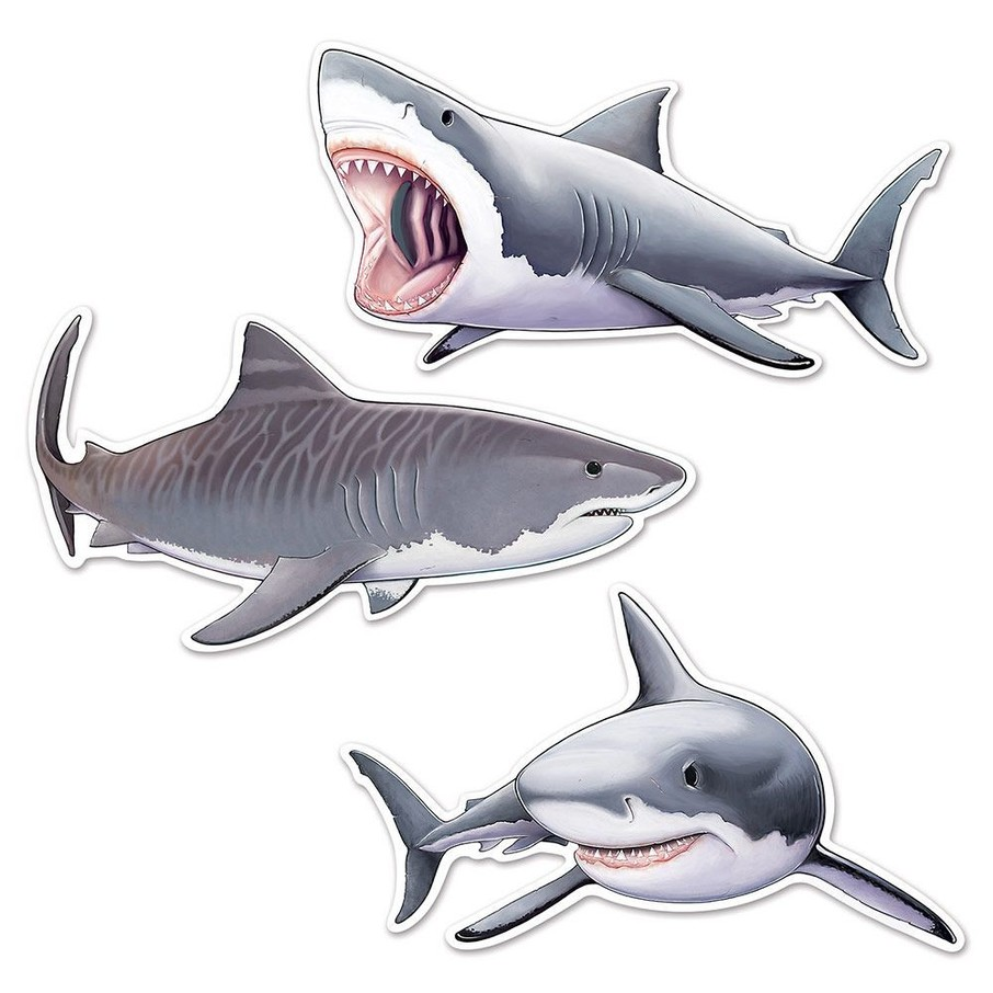 "View larger image of Shark 24"" Cutouts (3 Pack)"