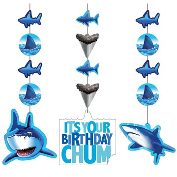 Shark Dangling Cutout (3-pack)