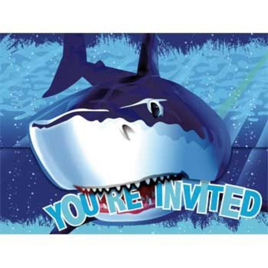 View larger image of Shark Invitations (8-pack)