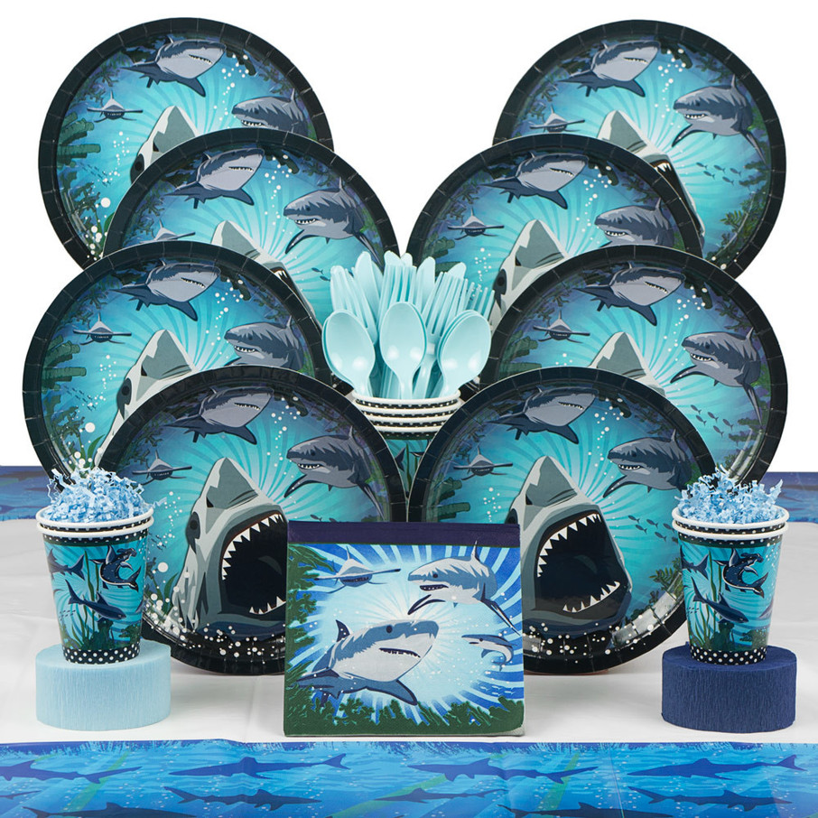 View larger image of Shark Party Deluxe Kit (Serves 8)