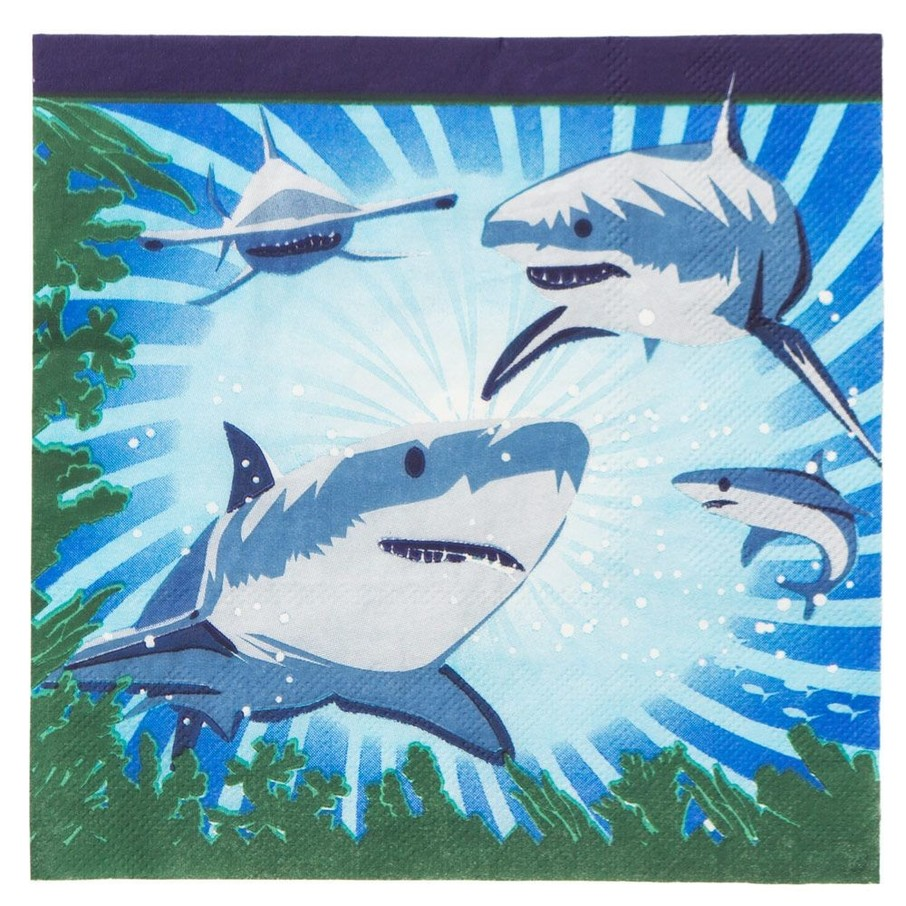 View larger image of Shark Party Luncheon Napkins (16 Pack)