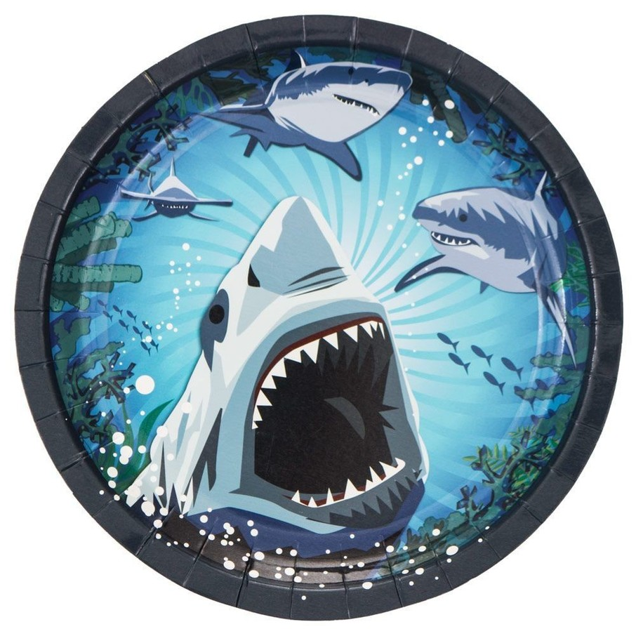 View larger image of Shark Party Luncheon Plate (8 Pack)