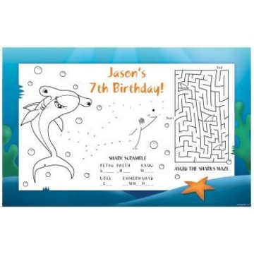 Shark Personalized Activity Mats (8-pack)