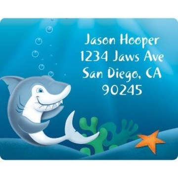 Shark Personalized Address Labels (sheet of 15)