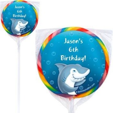 Shark Personalized Lollipops (pack of 12)