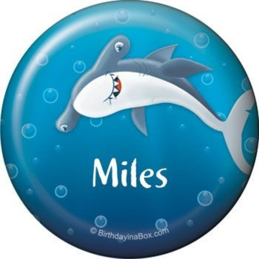 View larger image of Sharks Personalized Button (each)