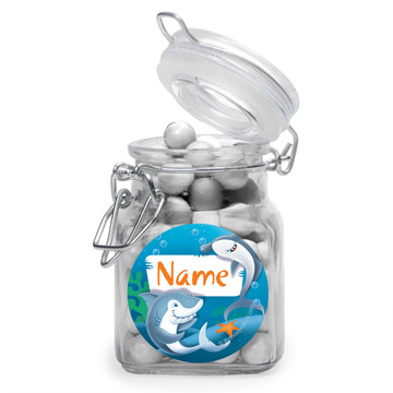 Sharks Personalized Glass Apothecary Jars (12 Count)