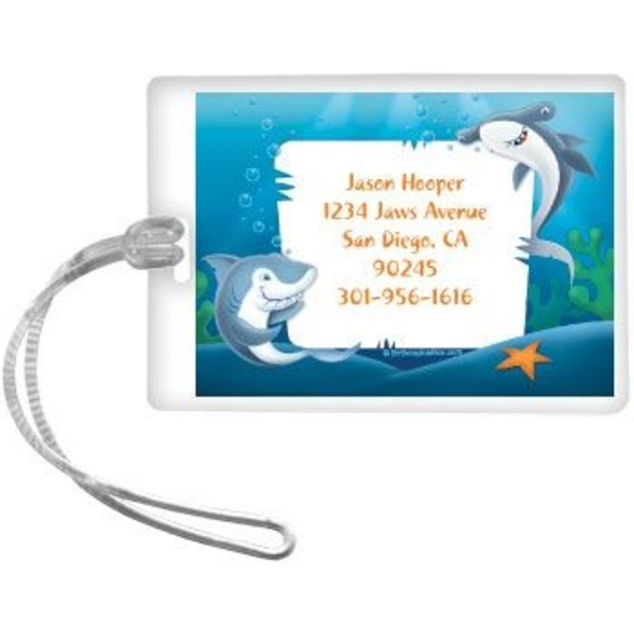 View larger image of Sharks Personalized Luggage Tag (each)
