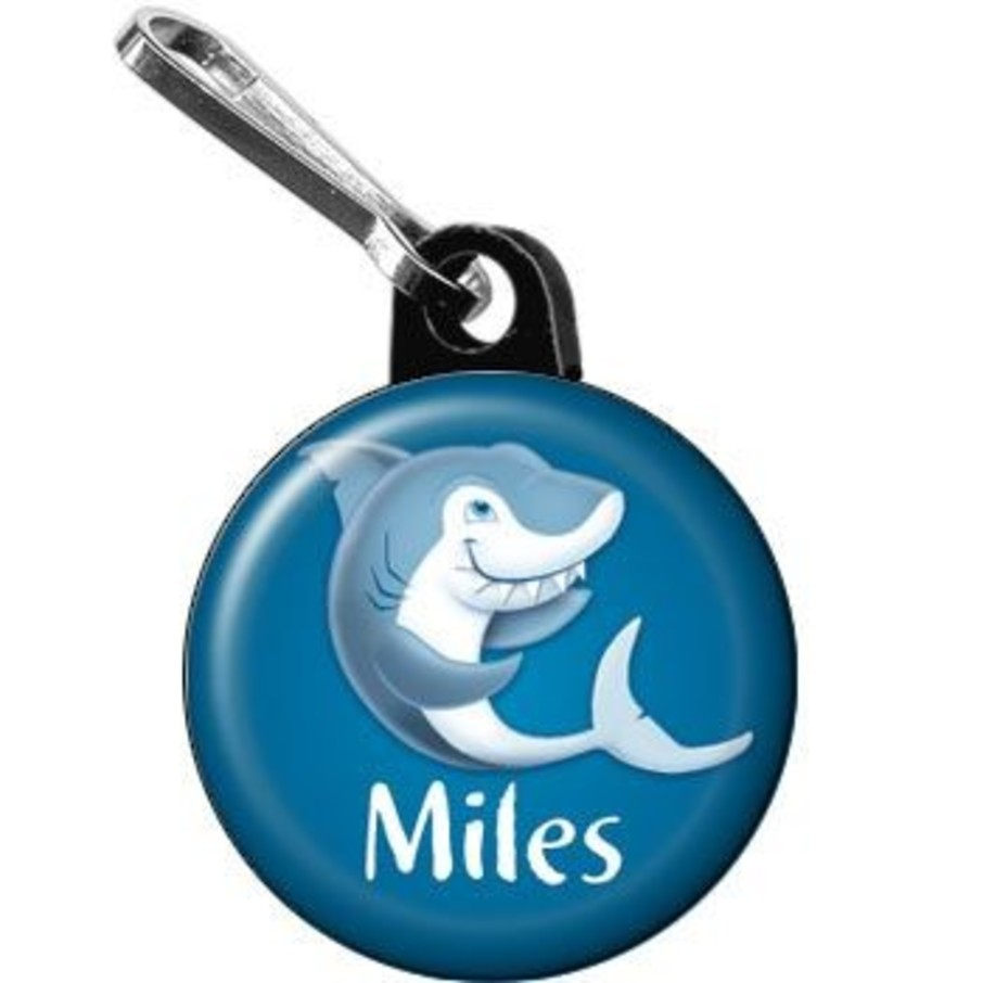 View larger image of Sharks Personalized Mini Zipper Pull (each)