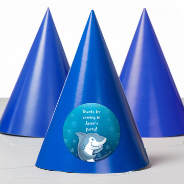 Sharks Personalized Party Hats (8 Count)