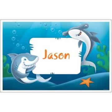 Sharks Personalized Placemat (each)