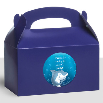 Sharks Personalized Treat Favor Boxes (12 Count)
