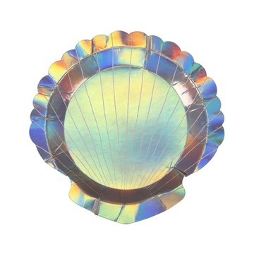 Shell Shaped Dessert Plates, 8ct