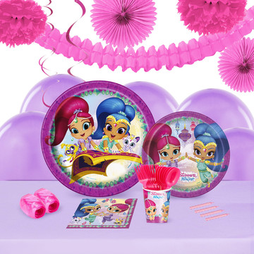 Shimmer and Shine 16 Guest Tableware Deco Kit