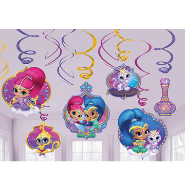Shimmer and Shine Swirl Decorations(12 Count)