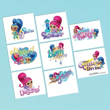 Shimmer and Shine Tattoo Sheet