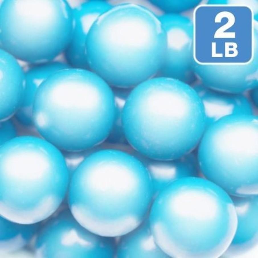View larger image of Shimmer Powder Blue Gumballs 2lb (Each)