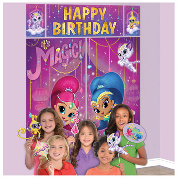 Shimmer & Shine Scene Setter with Photo Booth Props