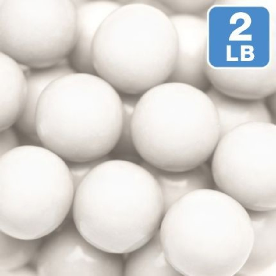 View larger image of Shimmer White Gumballs 2lb (Each)