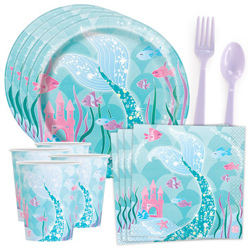 Shimmering Mermaid Splash Tableware Kit (Serves 8)
