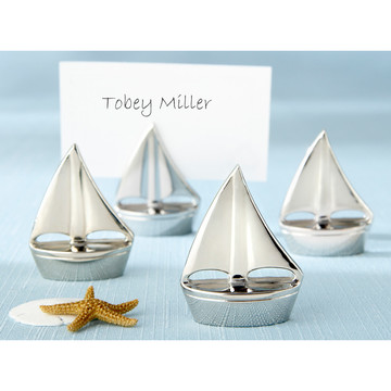 Shining Sails Silver Place Card Holders (Set of 4)